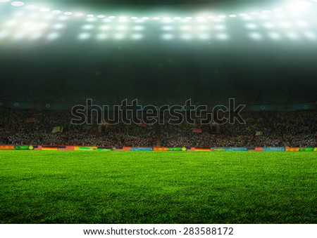 On the stadium. abstract football or soccer backgrounds  #283588172