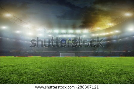 On the stadium. abstract football or soccer backgrounds  #288307121