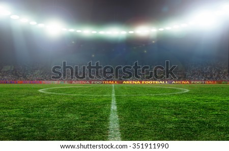On the stadium. abstract football or soccer backgrounds  #351911990