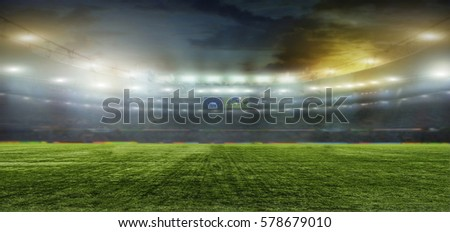 On the stadium. abstract football or soccer backgrounds  #578679010