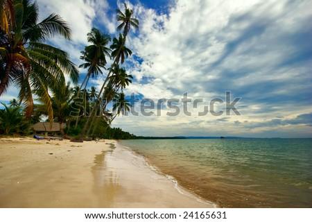 On the tropical beach. Siam bay. Province Trat. Koh Mak island. Kingdom Thailand #24165631