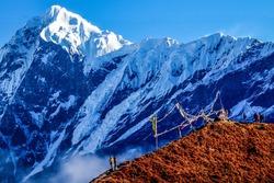 On the way to Goechala trek, Mount Pandim