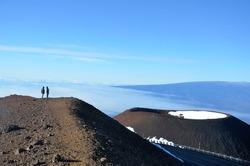 On the way to the top of volcano - Mauna Kea, Hawaii