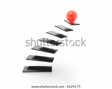 on top of staircase (high resolution 3D image)