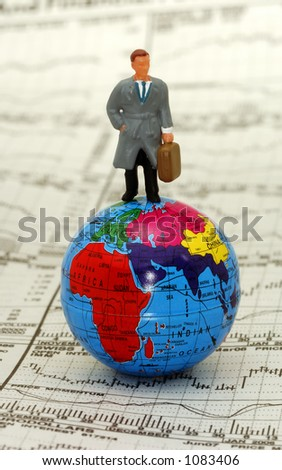 On Top of The World Business Concept