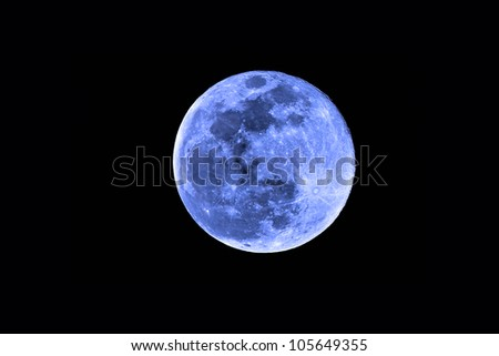 once in a blue moon with detailed moon