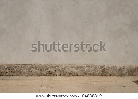 oncrete wall. Large concrete wall. Texture. Background. Image of dark concrete wall and floor