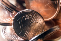 One and two euro cents's coins/Macro photography