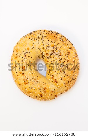 One bagel with onion