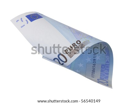one banknote 20 euro, isolated on white with clipping path #56540149
