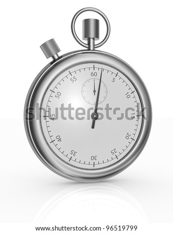 one beautiful analog stopwatch, vintage style (3d render)