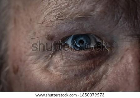 one beautiful human blue eye