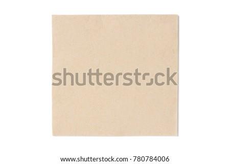 one beige paper napkin