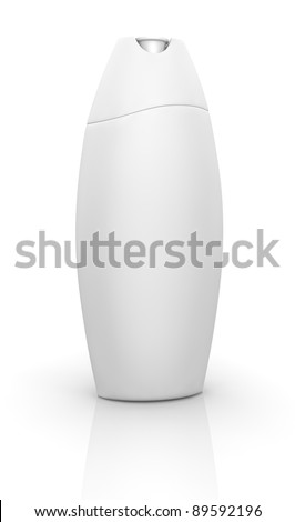 one bottle of shampoo with blank space for customization (3d render)