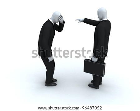 one businessman dismiss another