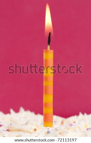 one candle on a cake could signify first birthday
