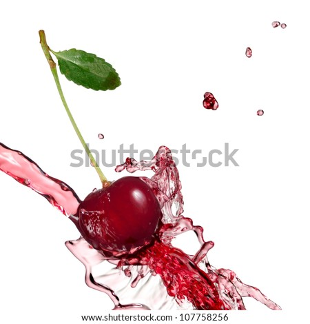 One cherry splash