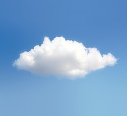 One cloud on the blue sky