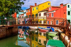 one corner of Burano Venice