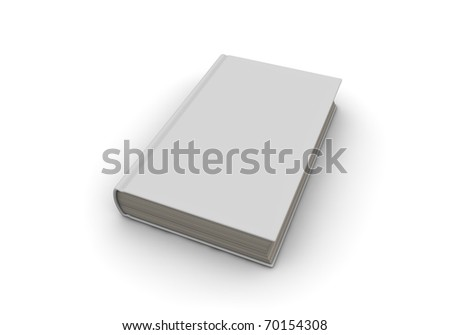 One 3d closed book with blank cover for general purpose