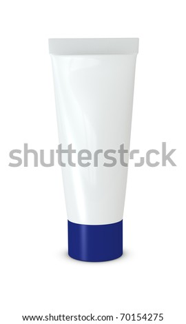 One 3d cream tube with blank space for general purpose
