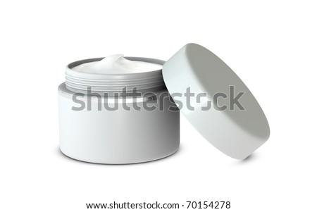 One 3d hand cream box with blank space for general purpose