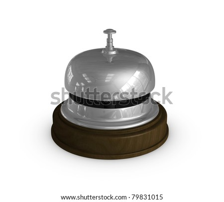 one 3d render of the bell used at the hotel reception
