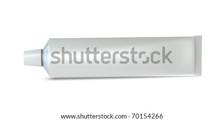 One 3d toothpaste tube with blank space for general purpose - stock photo