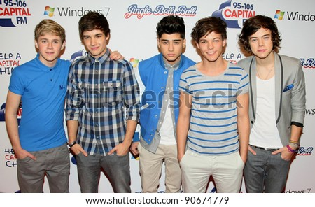 One Direction at The Jingle Bell Ball, The O2 Arena, east London. 04/12/2011  Picture by: Alexandra Glen / Featureflash