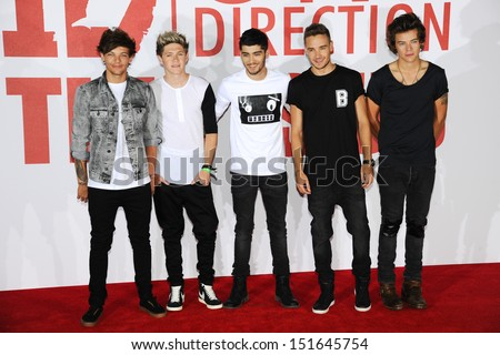 One Direction at the One Direction This is Us film - press conference, London. 19/08/2013