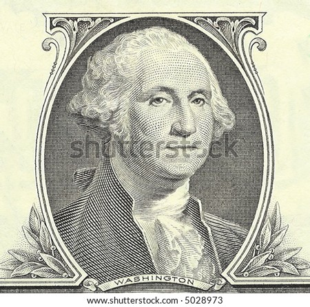 One dollar banknote - portrait of President George Washington.