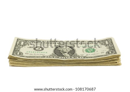 One Dollar Bill Stack
