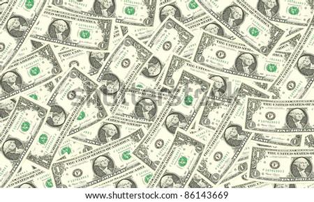one dollar bills background