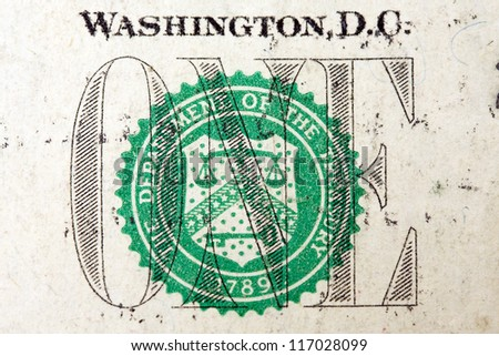 one dollar detail - stock photo