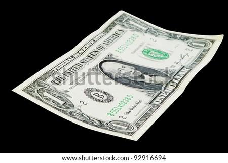 One Dollar isolated on white