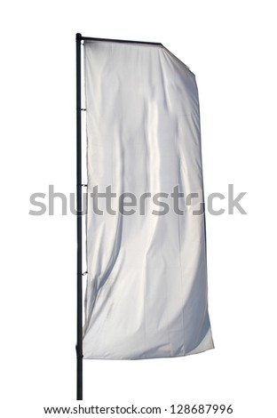 One empty vertical banner. Blank space for write at your own