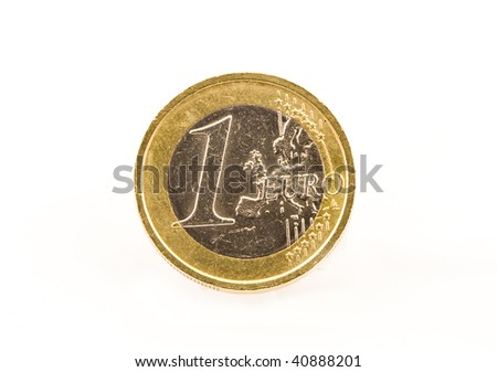 One Euro isolated on white - stock photo