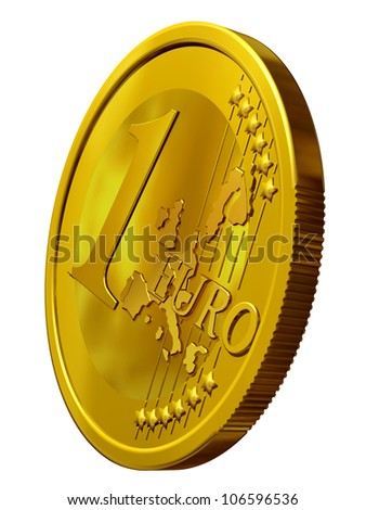 One Euro made out of Gold