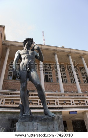 One f the three Michelangelo's David replicas is in  Montevideo, Capital of Uruguay, in front of the Palacio Municipal.