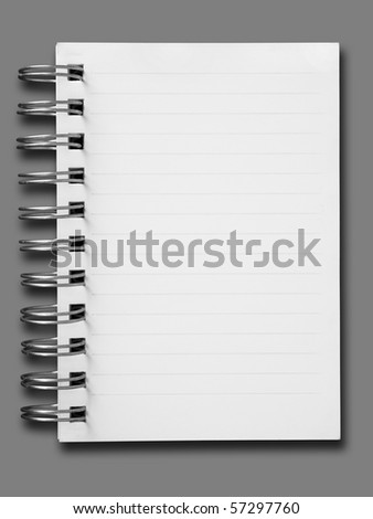 one face notebook on gray background and shadow #57297760