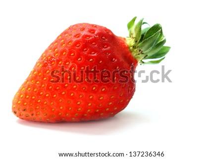 one fresh strawberry