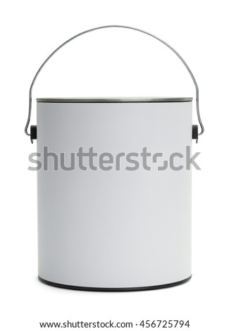 One Gallon Paint Bucket with Copy Space Isolated on White Background. #456725794