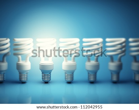 One glowing light bulb among many of the disabled