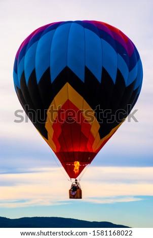 One hot air balloon in sky Stock fotó ©