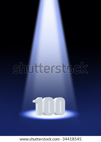one hundred - stock photo