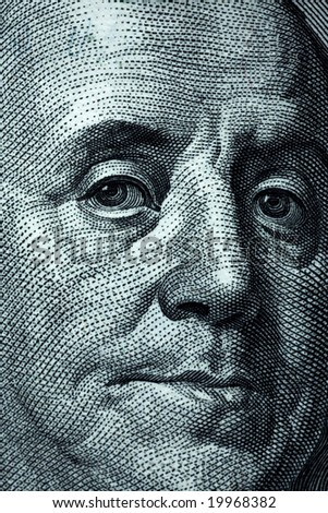 One hundred dollar banknotes crop - Franklin portait