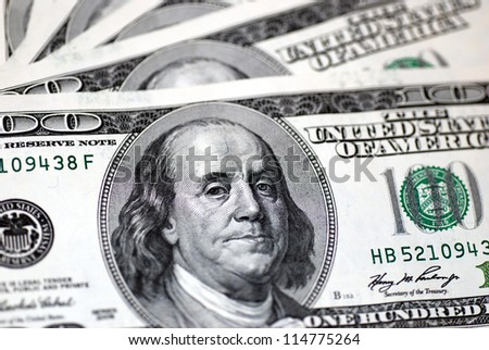 one hundred dollar bill, close up