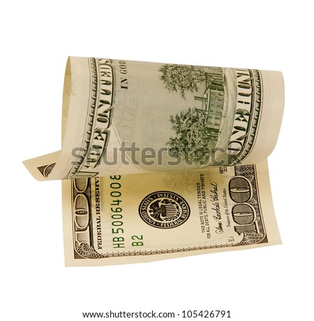 one hundred dollar bill, isolated