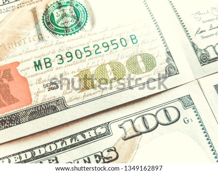 Franklin on one hundred dollar bill Images and Stock Photos