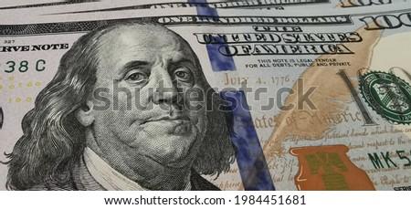 one hundred United statues of america dolar close up Zdjęcia stock ©